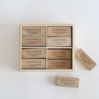 RESTFOLK カンフル ツリー ブロック 24個セット 木箱入