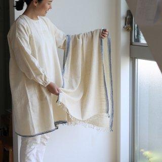 スノアンドモリソン Suno&Morrison Organic Khadi Basket Bath Towel (ivory2) バスタオル