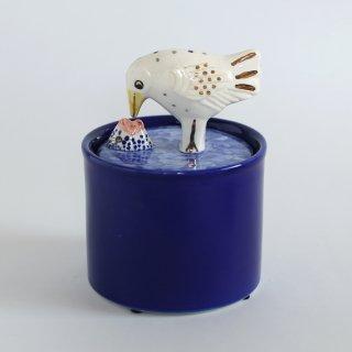 Lisa Larson(リサラーソン) Jar with Lid-bird&fish-
