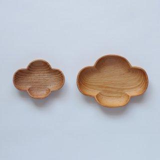 ラオスの木製食器 お花の小皿