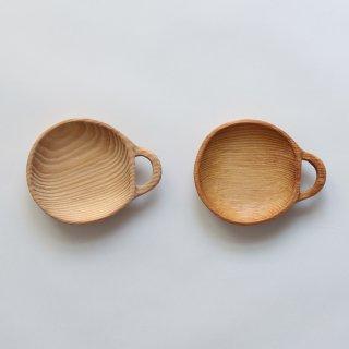 ラオスの木製食器 横柄皿
