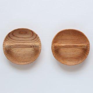 ラオスの木製食器 取手付き変わり皿