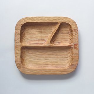 ラオスの木製食器 こども用プレート