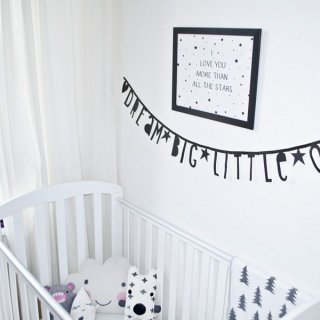 A Little Lovely Company diy letter banner  Black