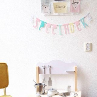 A Little Lovely Company diy letter banner Pastel