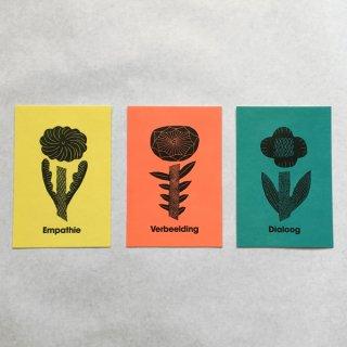 鹿児島睦 図案ポストカード Postcard 3 Bloemen