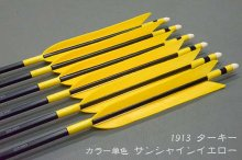 【匠】ジュラ矢 6本組 1913 ターキー サンシャインイエロー