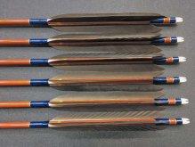 カーボン矢 6本組 雷槌(いかづち)七六式・竹 黒手羽 (1)