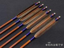 カーボン矢 6本組 雷槌(いかづち)八〇式・竹 黒手羽 (1)