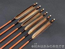 カーボン矢 6本組 雷槌(いかづち)八〇式・竹 黒手羽 (2)