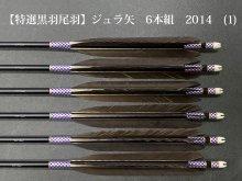 【特選黒羽 尾羽】ジュラ矢 6本組 2014 (1)