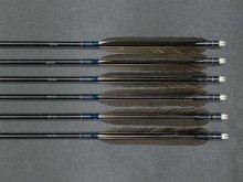 【特選黒羽 尾羽】ジュラ矢 6本組 1913 (1)
