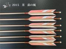 【矢龍】ジュラ矢 6本組 2015 茶 ターキー 荻の風
