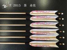 【矢龍】ジュラ矢 6本組 2015 茶 ターキー 赤炎