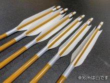 遠的カーボン矢 6本組 KC麦粒-7016 グースナタ羽 (1)