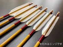 遠的カーボン矢 6本組 KC麦粒-7016 グースナタ羽 (4)