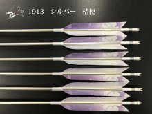 【矢龍】ジュラ矢 6本組 1913 シルバー ターキー 桔梗