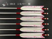 【矢龍】ジュラ矢 6本組 1913 シルバー ターキー 桜