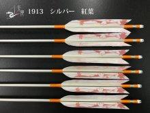 【矢龍】ジュラ矢 6本組 1913 シルバー ターキー 紅葉