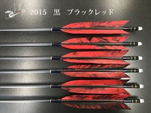 【矢龍】ジュラ矢 6本組 2015 黒 ターキー ブラックレッド