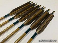 【ワケあり特価矢】カーボン矢 6本組 イーストンウッドカーボン 80-23 黒手羽 (6)