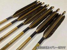 【ワケあり特価矢】カーボン矢 6本組 イーストンウッドカーボン 80-23 黒手羽 (8)
