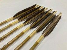 【ワケあり特価矢】カーボン矢 6本組 イーストンウッドカーボン 80-23 黒手羽 (15)