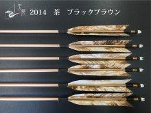 【矢龍】ジュラ矢 6本組 2014 茶 ターキー ブラックブラウン