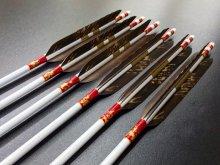カーボン矢 6本組 雷槌(いかづち)七六式PW 黒手羽抜染 (3)