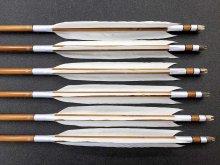 竹矢 梓 6本組 近的用 スノーグース ナタ羽(2) 全長約94〜96cm 仕上がり約27〜28g