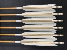 竹矢 梓 6本組 近的用 白鳥 切羽(1) 全長約94cm 仕上がり約24〜25g