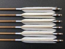 竹矢 梓 6本組 近的用 白鳥 切羽(2) 全長約97〜100cm 仕上がり約29〜30g