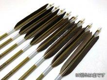 【ワケあり特価矢】カーボン矢 8本組 イーストンウッドカーボン 76-20 黒手羽 (2)