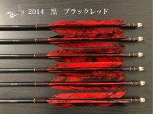 【矢龍】ジュラ矢 6本組 2014 黒 ターキー ブラックレッド