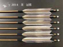 【矢龍】ジュラ矢 6本組 2014 茶 ターキー 冠鷲