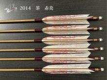 【矢龍】ジュラ矢 6本組 2014 茶 ターキー 赤炎
