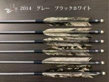 【矢龍】ジュラ矢 6本組 2014 グレー ターキー ブラックホワイト