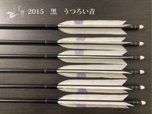 【矢龍】ジュラ矢 6本組 2015 黒 ターキー うつろい青