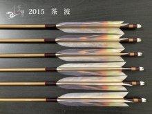 【矢龍】ジュラ矢 6本組 2015 茶 ターキー 波