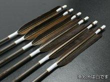 【ワケあり特価矢】カーボン矢 6本組 KC-8025 黒尾羽 (2)