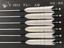 【矢龍】ジュラ矢 6本組 1913 グレー ターキー 天華