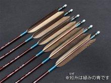 カーボン矢 6本組 ミズノSST 75-18 黒手羽 (1)