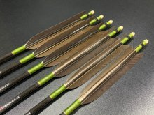 カーボン矢 6本組 雷槌(いかづち)七六式BK 黒手羽 (1)