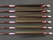カーボン矢 6本組 雷槌(いかづち)七六式DW 黒手羽 (1)