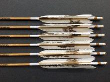 カーボン矢 6本組 イーストンウッドカーボン 65-16 節模様付 スノーグース羽