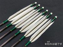遠的カーボン矢 6本組 雷槌(いかづち)六六式S グースナタ羽 (1)