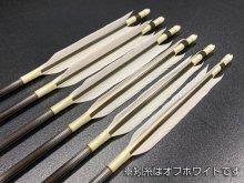 遠的カーボン矢 6本組 雷槌(いかづち)六六式S グースナタ羽 (2)