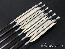 遠的カーボン矢 6本組 雷槌(いかづち)六六式H グースナタ羽 (1)