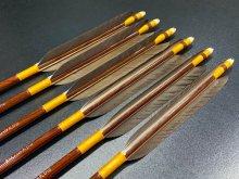 カーボン矢 6本組 雷槌(いかづち)八〇式DW 黒手羽 (2)