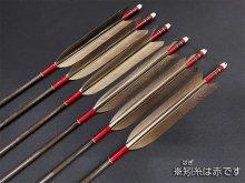 カーボン矢 6本組 KC-7522 黒手羽 (2)